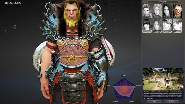 Berserker to typowa klasa walcząca w zwarciu, która wykorzystuje do walki podwójne topory - Berserker - Klasy postaci - Black Desert Online - poradnik do gry