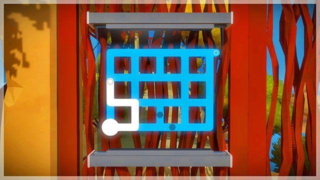 Dotrzesz do zagadki na drzwiach wejściowych - Opis przejścia - Skała - The Witness - poradnik do gry