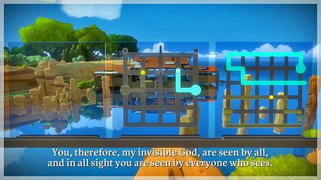 Trzeci zestaw zagadek zmusi cię do użycia wyobraźni, gdyż jedna ze ścieżek będzie stawała się coraz mniej widoczna - Opis przejścia - Skała - The Witness - poradnik do gry