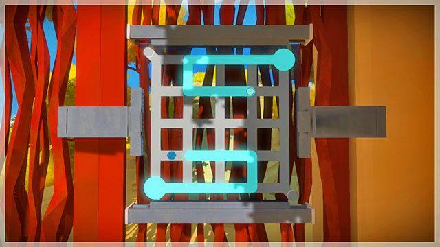 Po rozwiązaniu trzeciego zestawu dostarczysz energię do drzwi prowadzących do lasera - Opis przejścia - Skała - The Witness - poradnik do gry