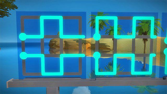 Pierwszy zestaw zagadek, dwie pierwsze - Rozwiązania zagadek - Skała - The Witness - poradnik do gry