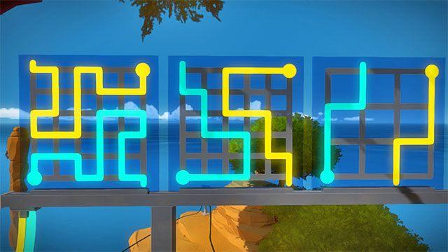 Drugi zestaw zagadek, trzy kolejne - Rozwiązania zagadek - Skała - The Witness - poradnik do gry