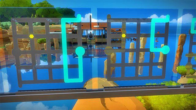 Trzeci zestaw zagadek, dwie kolejne - Rozwiązania zagadek - Skała - The Witness - poradnik do gry