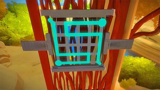 Zagadka na drzwiach prowadzących do lasera - Rozwiązania zagadek - Skała - The Witness - poradnik do gry