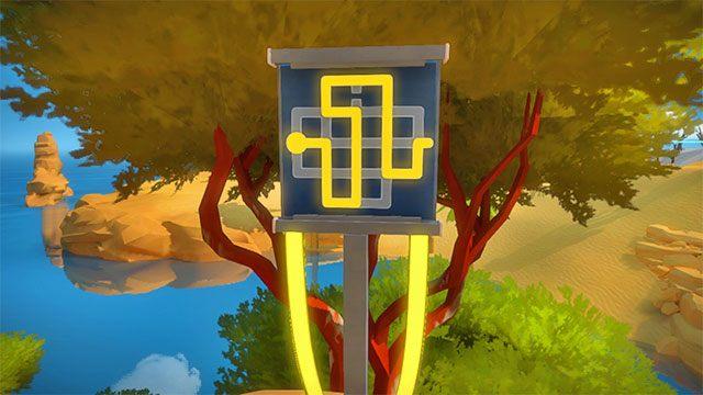 Laser, druga prawa zagadka - Rozwiązania zagadek - Skała - The Witness - poradnik do gry