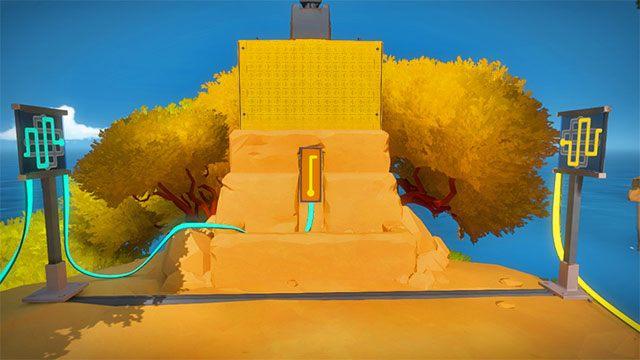 Laser, trzecia para zagadek - Rozwiązania zagadek - Skała - The Witness - poradnik do gry