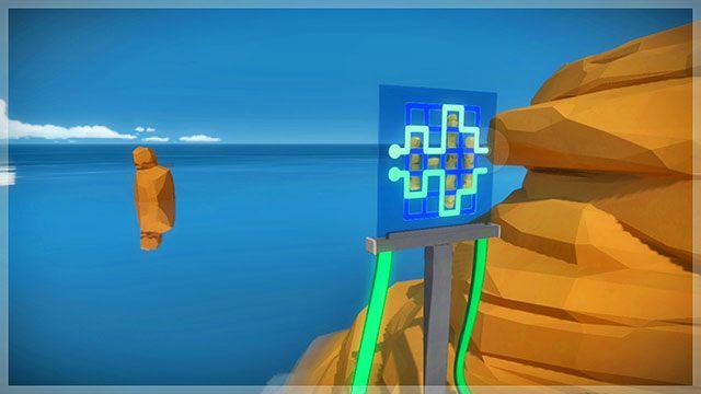 Łamigłówki z perspektywy, trzeci panel - Rozwiązania zagadek - Skała - The Witness - poradnik do gry