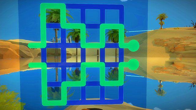 Łamigłówki z perspektywy, piąty panel - Rozwiązania zagadek - Skała - The Witness - poradnik do gry