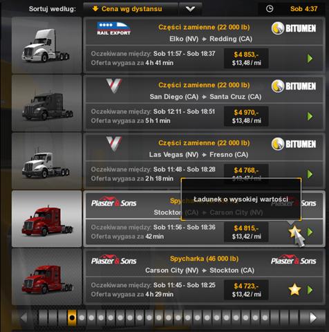 Jedna z umiejętności dająca dostęp do lepszych zleceń (= bardziej opłacalnych) - Zdolności - Kierowca - American Truck Simulator - poradnik do gry