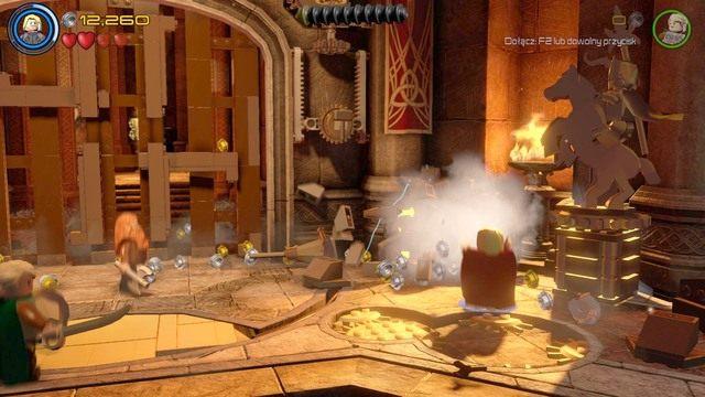 Po odzyskaniu panowania nad postacią, podejdź do prawej strony bramy i zniszcz wszystkie obiekty, które się tam znajdują - Hen, w Aetherze - Opis przejścia - LEGO Marvels Avengers - poradnik do gry