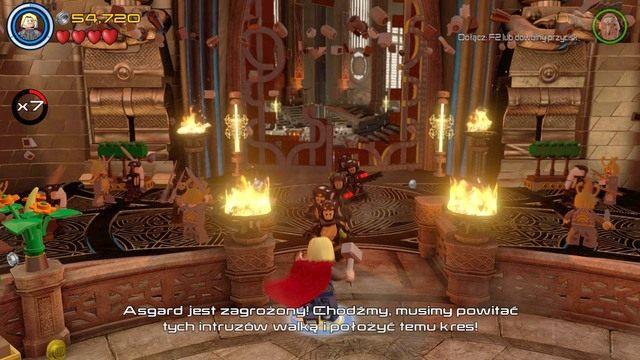Po przejściu dalej będziesz musiał rozprawić się z kilkudziesięcioma wrogami - Hen, w Aetherze - Opis przejścia - LEGO Marvels Avengers - poradnik do gry