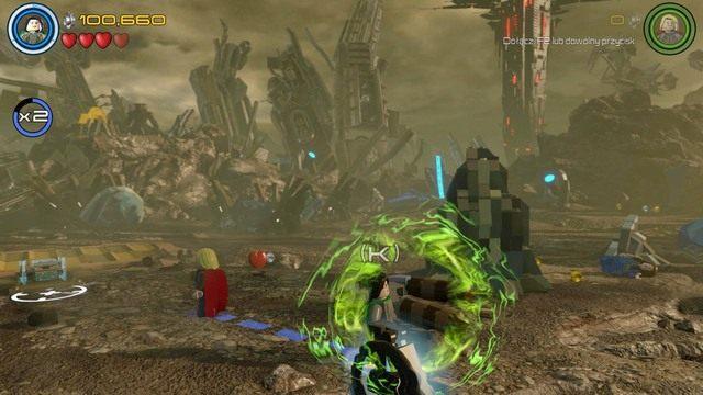 Podczas walki przejdź do prawej strony i zniszcz dwa obiekty z klocków - Hen, w Aetherze - Opis przejścia - LEGO Marvels Avengers - poradnik do gry