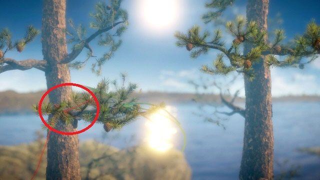 Przy trzeciej gałęzi u góry wyostrz wzrok - Poziom 2 - The Sea - Opis przejścia - Unravel - poradnik do gry