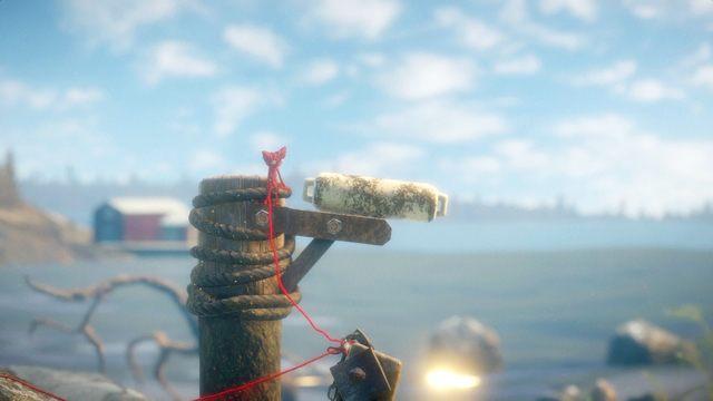 Teraz użyj liny, by wspiąć się po palu, by zrzucić boję znajdującą się u góry - Poziom 2 - The Sea - Opis przejścia - Unravel - poradnik do gry