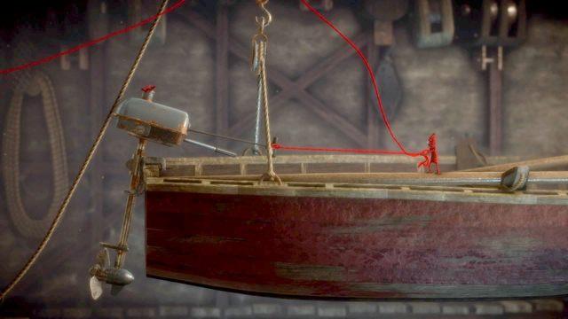 Następnie zeskocz na łódkę - Poziom 2 - The Sea - Opis przejścia - Unravel - poradnik do gry
