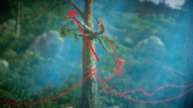 Jak można się domyślić, pętle na drzewach nie zostały umieszczone bez powodu - Poziom 3 - Berry Mire - Opis przejścia - Unravel - poradnik do gry