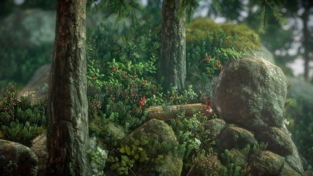 Po drugiej stroni używając lassa wyciągnij drewienko, pomoże ci ono wskoczyć na kamień - Poziom 3 - Berry Mire - Opis przejścia - Unravel - poradnik do gry