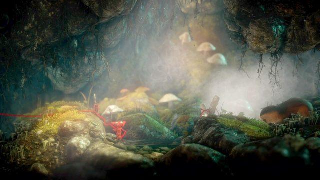 Po chwili spotkasz podziemnego zwierza - Poziom 4 - Mountain Trek - Opis przejścia - Unravel - poradnik do gry