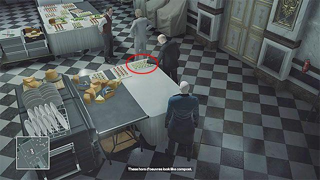 Novikov co pewien czas zjawia się w pomieszczeniu cateringu żeby ponarzekać na swoich podwładnych - Zamordowanie Viktora Novikova | Paryż - The Showstopper - Hitman - poradnik do gry