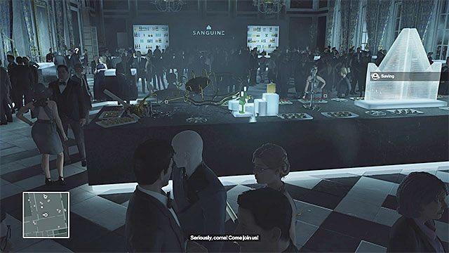 Jeśli zrzucisz żyrandol w sali bankietowej to zginą też prawdopodobnie niewinne osoby - Zamordowanie Viktora Novikova | Paryż - The Showstopper - Hitman - poradnik do gry