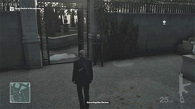 Musicie dotrzeć do południowo-zachodniej części ogrodów - Zamordowanie Viktora Novikova | Paryż - The Showstopper - Hitman - poradnik do gry