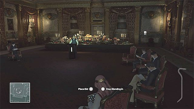 Usiądź na fotelu zarezerwowanym dla szejka i weź udział w aukcji - Zamordowanie Dalii Margolis | Paryż - The Showstopper - Hitman - poradnik do gry