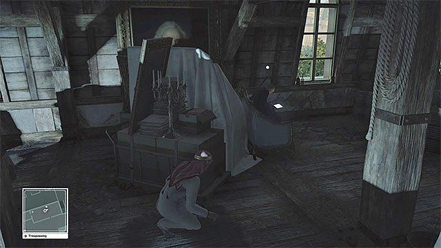 Skradaj się podczas pobytu na strychu, bo przebywa tu wielu ochroniarzy - Zamordowanie Dalii Margolis | Paryż - The Showstopper - Hitman - poradnik do gry