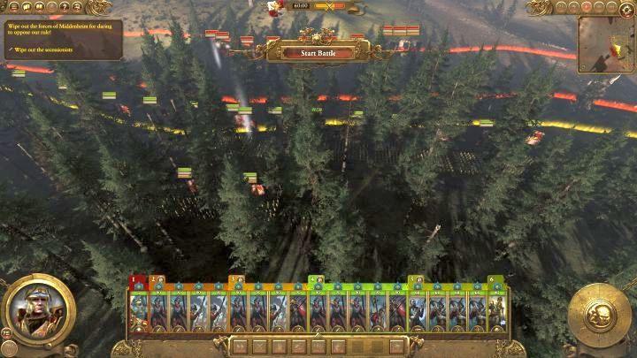Starcie rozpoczyna się zasadzką - możesz zaskoczyć wroga. - Kampania - opis przejścia i porady   Imperium - Total War: Warhammer - poradnik do gry