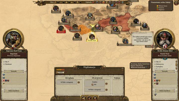 Warto korzystać z propozycji sojuszy. - Kampania - opis przejścia i porady   Imperium - Total War: Warhammer - poradnik do gry