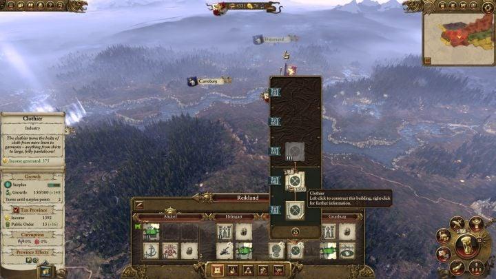 Rozbudowa wszystkich osad niestety zajmie trochę czasu. - Kampania - opis przejścia i porady   Imperium - Total War: Warhammer - poradnik do gry