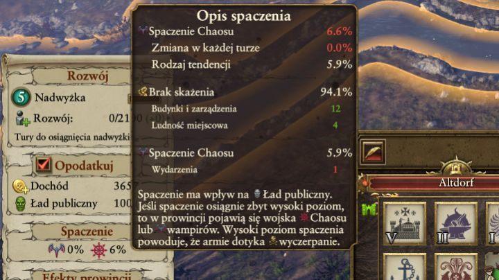 Należy także pamiętać o ograniczeniu spaczenia na terenach prowincji, które są pod twoją kontrolą - Przygotowania - Wojna - Total War: Warhammer - poradnik do gry
