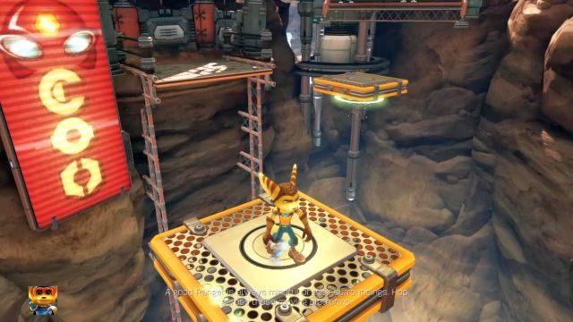 Kieruj się cały czas przed siebie, eliminując wrogów i niszcząc napotkane pudła by zdobyć śrubki - Planeta Veldin - Opis przejścia - Ratchet & Clank - poradnik do gry