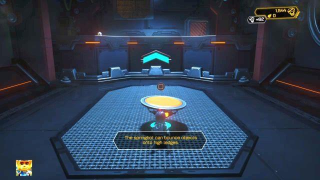 Zbierz bombę leżącą na ziemi i ciśnij nią w kratkę wentylacyjną przed tobą - Planeta Veldin - Opis przejścia - Ratchet & Clank - poradnik do gry