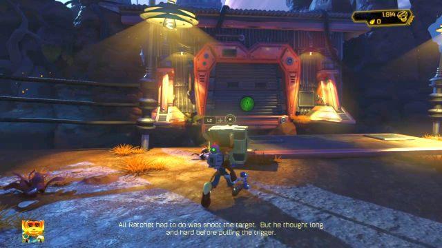 Czeka tutaj na ciebie nowa broń - Pożoger (Combustor) - Planeta Veldin - Opis przejścia - Ratchet & Clank - poradnik do gry