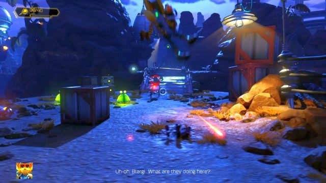 Pojawią się tutaj nowi wrogowie, wyposażeni w broń palną - Planeta Veldin - Opis przejścia - Ratchet & Clank - poradnik do gry