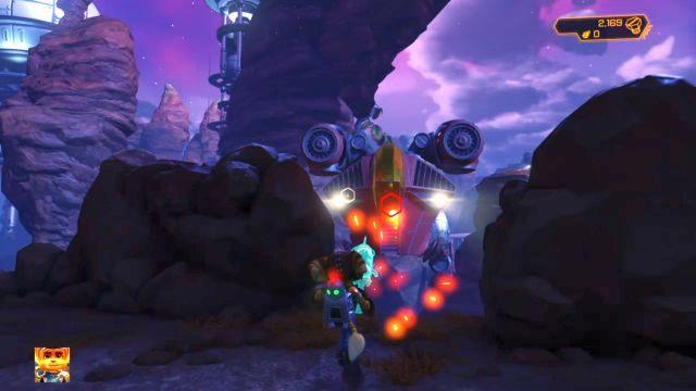 Czeka cię tutaj starcie ze swego rodzaju mini-bossem - statkiem Blargów - Planeta Veldin - Opis przejścia - Ratchet & Clank - poradnik do gry