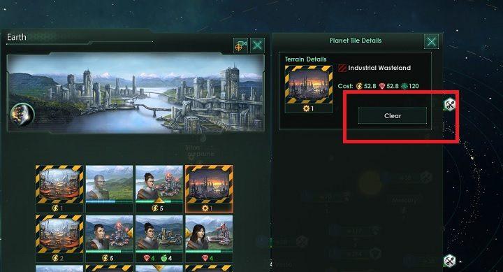 Po kliknięciu powinno się wyświetlić dodatkowe pole w panelu - Zajmowanie układów i kolonizacja planet   Dobry start w Stellaris - Stellaris - poradnik do gry