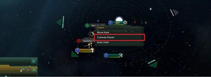 Przenieś kamera do układu, który chcesz kolonizować - Zajmowanie układów i kolonizacja planet   Dobry start w Stellaris - Stellaris - poradnik do gry
