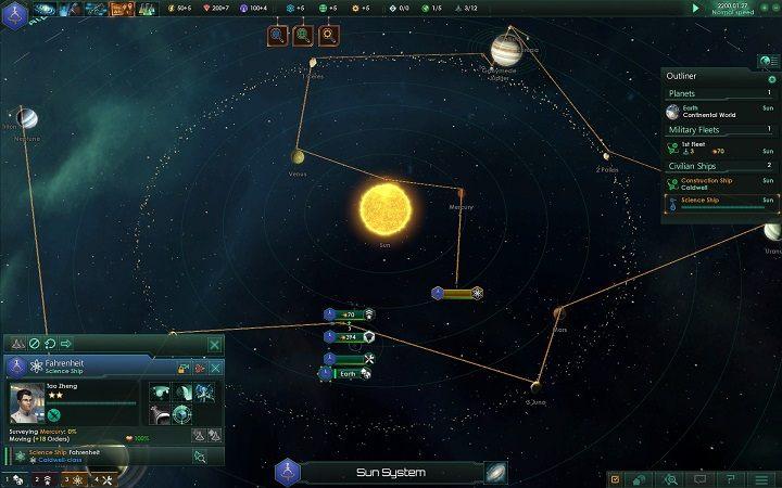 Wbrew pozorom zasoby na badania naukowe są generowane dostatecznie szybko dzięki czemu możesz nieustannie rozwijać imperium pod kątem nowych technologii i budynków - Rozwój imperium w 4 prostych krokach   Dobry start w Stellaris - Stellaris - poradnik do gry