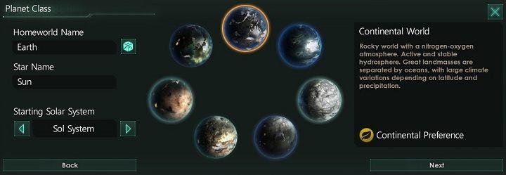 W ramach tej zakładki możesz wyznaczyć nazwę planety oraz gwiazdy które będą w twoim układzie macierzystym - Kreator tworzenia frakcji   Frakcje w Stellaris - Stellaris - poradnik do gry