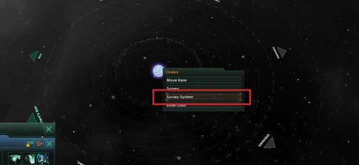 Wybierz statek badawczy i zleć badania w sąsiednim układzie - Zajmowanie układów i kolonizacja planet - Dobry start - Stellaris - poradnik do gry