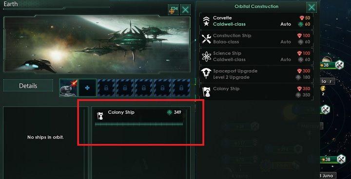 Jeśli zdecydujesz się na budowę okrętu zostanie on wrzucony w kolejkę warsztatu - Zajmowanie układów i kolonizacja planet - Dobry start - Stellaris - poradnik do gry
