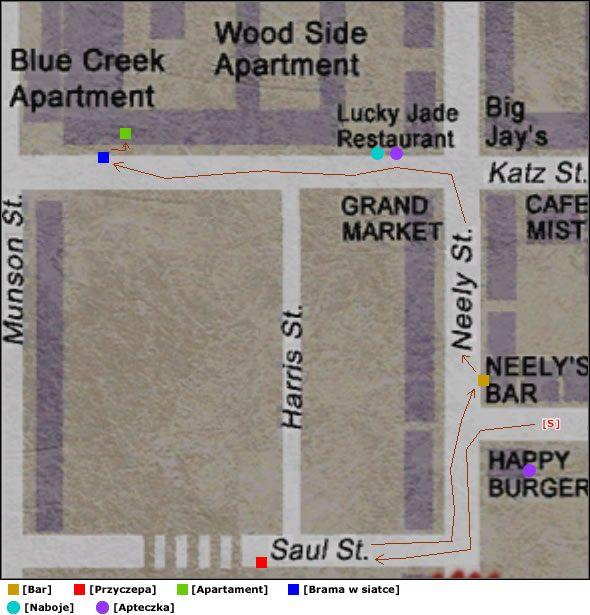 Na końcu ulicy Saul po lewej stronie stoi przyczepa kempingowa - Południowe Silent Hill - Silent Hill 2 - poradnik do gry