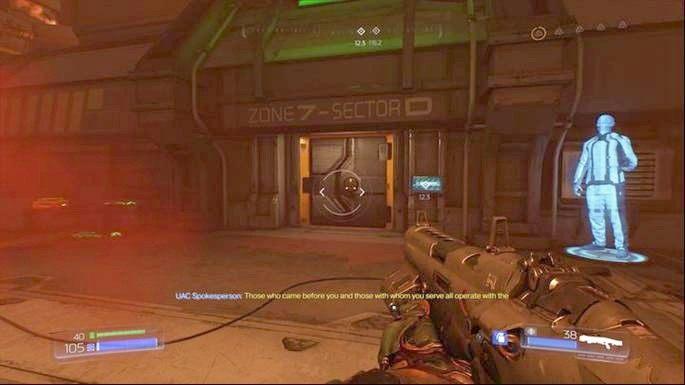 Ostatnie dojdziesz do zaznaczonych na radarze drzwi - Obiekt Argentu (zniszczony) | Opis przejścia - Doom - poradnik do gry
