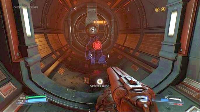 Możesz tam doskoczyć z pomocą wyrzutni - Obiekt Argentu (zniszczony) | Opis przejścia - Doom - poradnik do gry