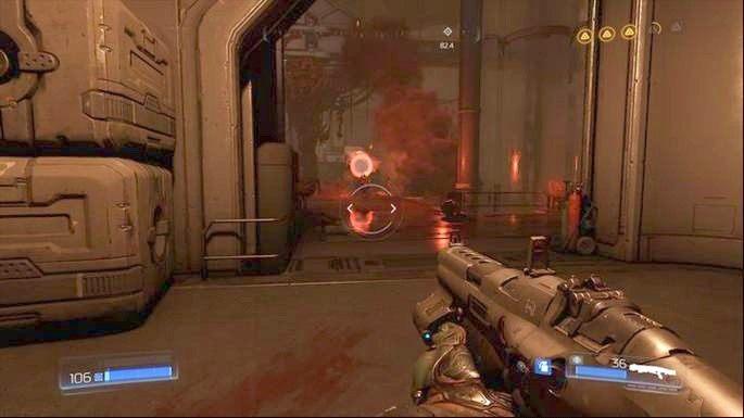 W miejscu gdzie natkniesz się na uciekającego Drona Polowego będzie stało Gniazdo Juchy - Obiekt Argentu (zniszczony) | Opis przejścia - Doom - poradnik do gry
