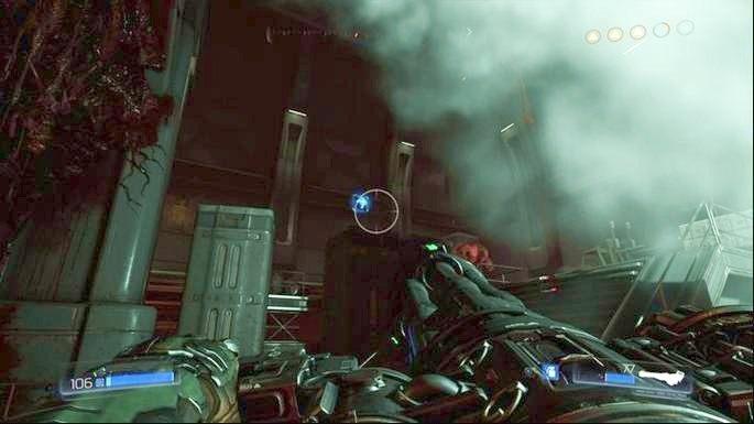 Możesz też podnieść unoszące się nad skrzynkami Megazdrowie - Obiekt Argentu (zniszczony) | Opis przejścia - Doom - poradnik do gry