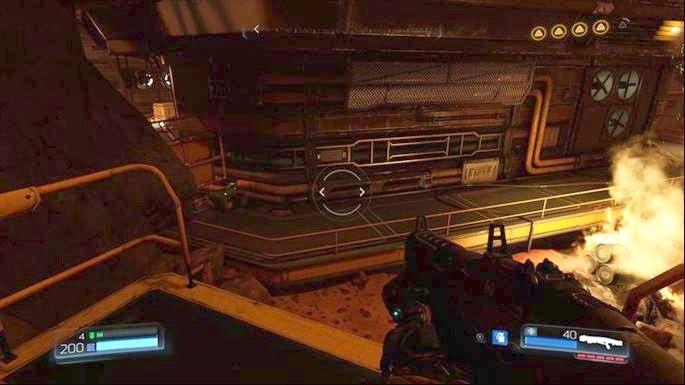 Dalsza droga prowadzi przez drzwi na dole - Obiekt Argentu (zniszczony) | Opis przejścia - Doom - poradnik do gry