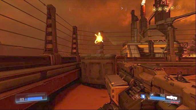 Możesz teraz wrócić do wejścia, przez które przeszedłeś i iść dalej w prawo - Obiekt Argentu (zniszczony) | Opis przejścia - Doom - poradnik do gry