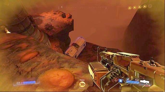 Pod nią jest półka, na której ukryto Baterię Argentu - Obiekt Argentu (zniszczony) | Opis przejścia - Doom - poradnik do gry